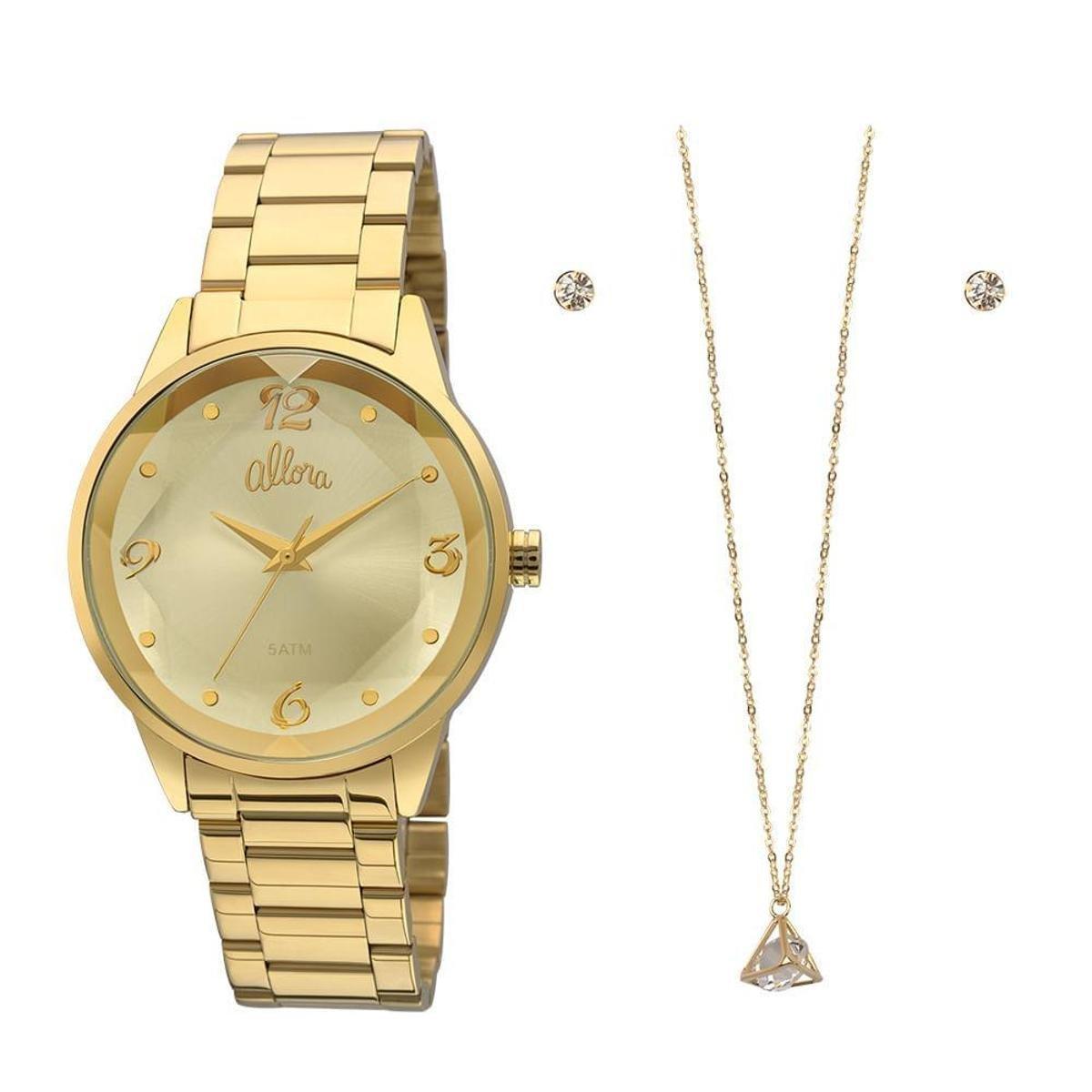 59d9a40275248 Relógio Allora Feminino AL2035FKO K4X - Dourado AL2035FKO K4X - Compre  Agora