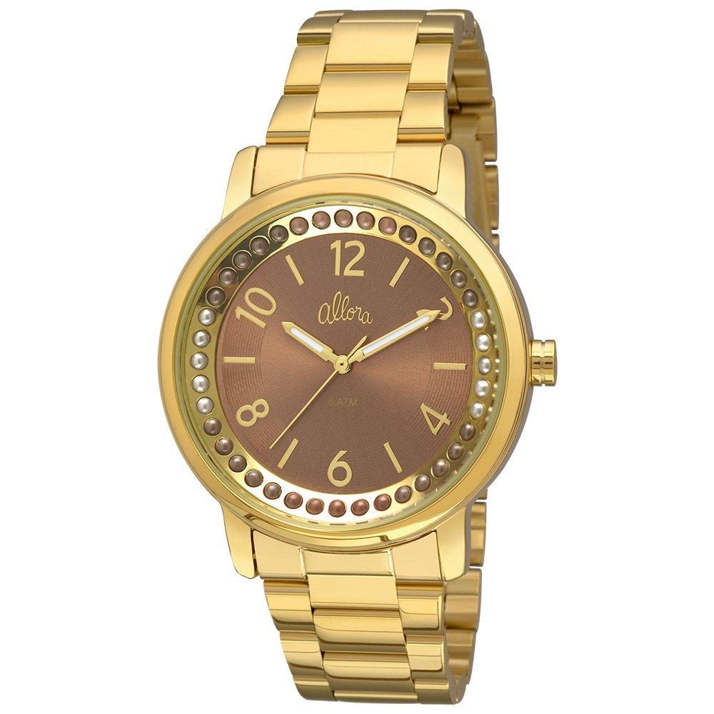 a8c76057b2fe1 Relógio Allora Feminino Perolas - Dourado - Compre Agora