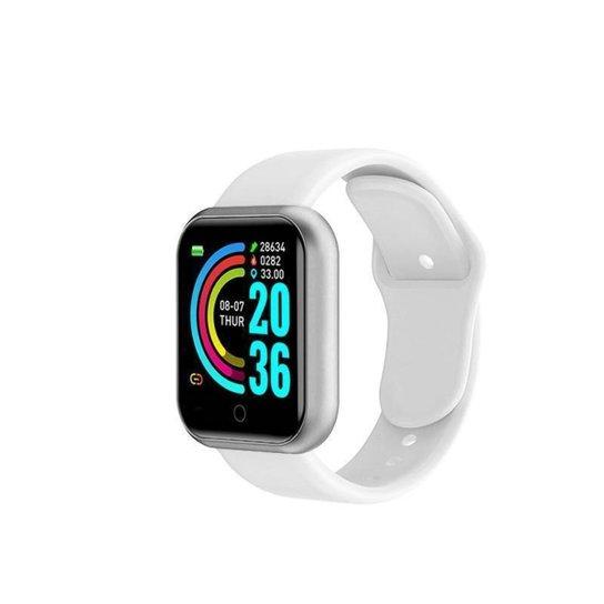Relógio Bsn Smartwatch Inteligente Fitness Smart Bluetooth - Branco