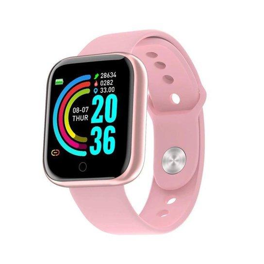 Relógio Bsn Smartwatch Inteligente Fitness Smart Bluetooth - Rosa