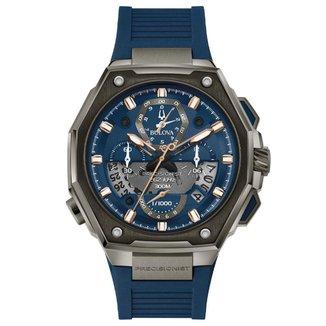 Relógio Bulova Masculino Borracha Azul - 98B357