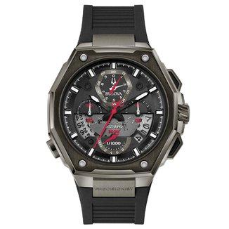 Relógio Bulova Masculino Borracha Preta - 98B358