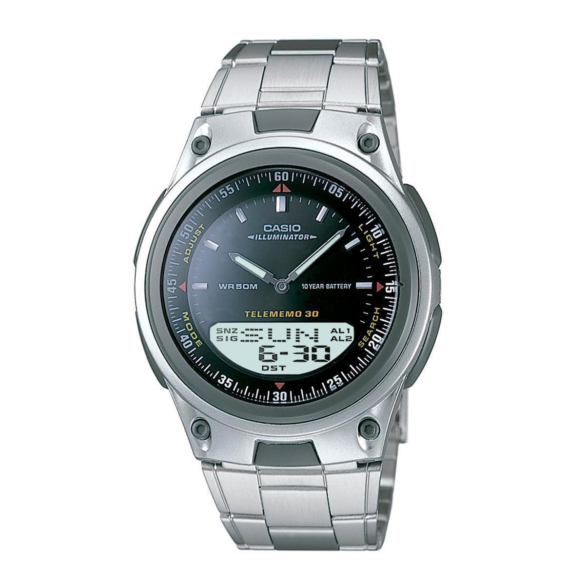 6a910ea9893 Relógio Casio AW-80D-1AVDFU 40mm Prata Pulseira Aço - Compre Agora ...