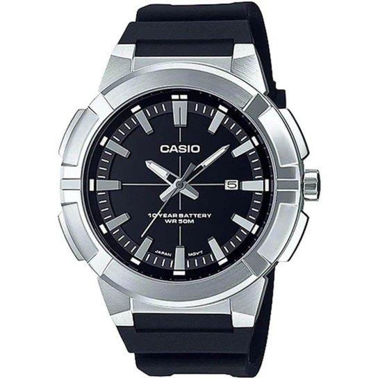 Relógio Casio Collection Masculino MTP-E172-1AVDF - Preto+Prata