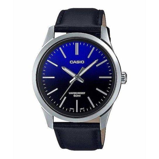 Relógio Casio Collection Masculino MTP-E180L-2AVDF - Azul+Prata