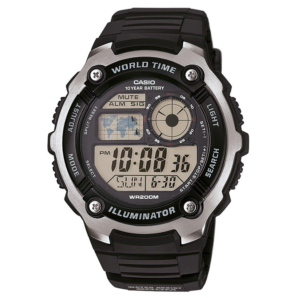 3a1031318c1 Relógio Casio Digital AE-2100W - Preto - Compre Agora