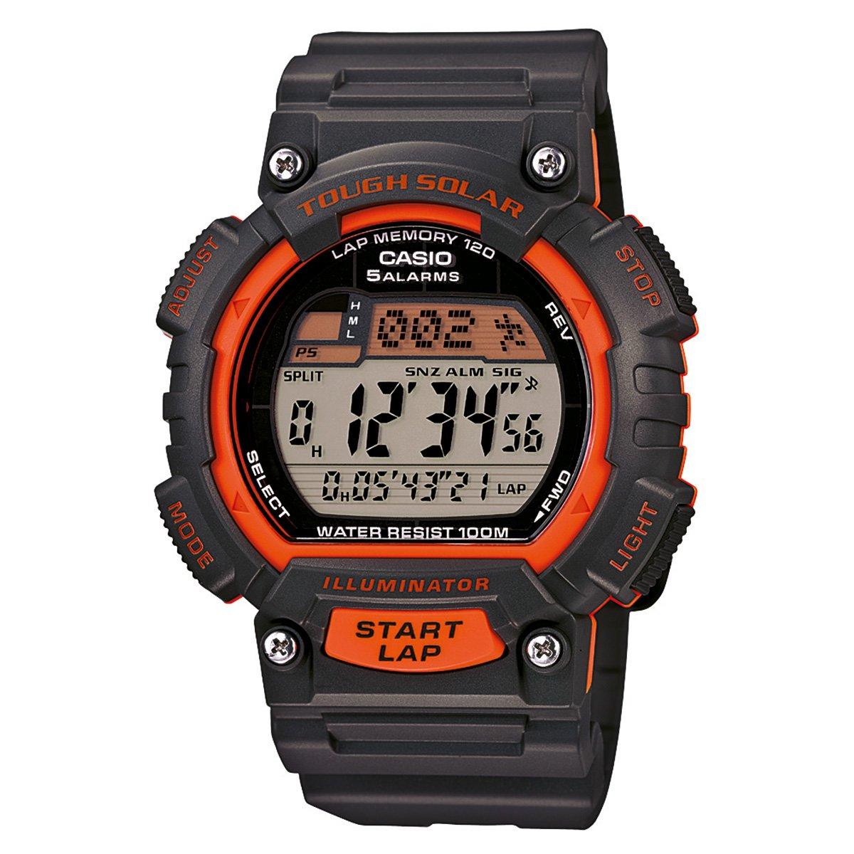 ce2baa6e66d Relógio Casio Digital STL-S100H - Preto e Laranja - Compre Agora ...