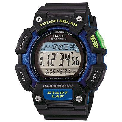 Relógio Casio Digital STL - S110H - Unissex - Preto+Azul