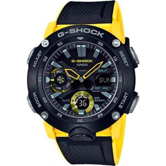Relógio Casio G-Shock GA-2000-1A9DR Carbon Core Guard - Amarelo