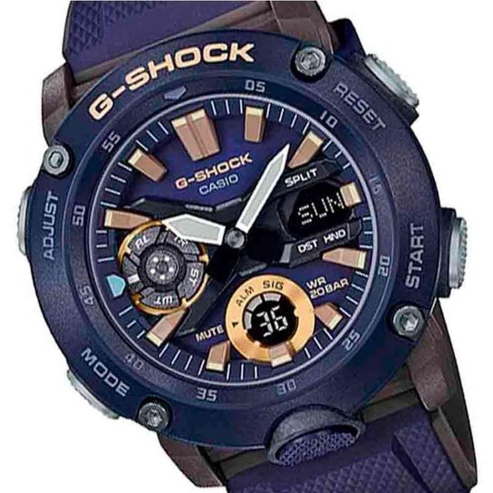Relógio Casio G-Shock Ga-2000-2Adr Masculino - Azul