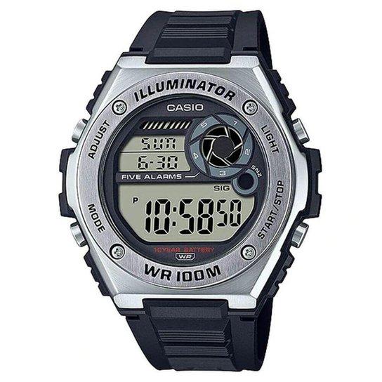 Relógio Casio Standard Masculino MWD-100H-1AVDF - Preto+Prata