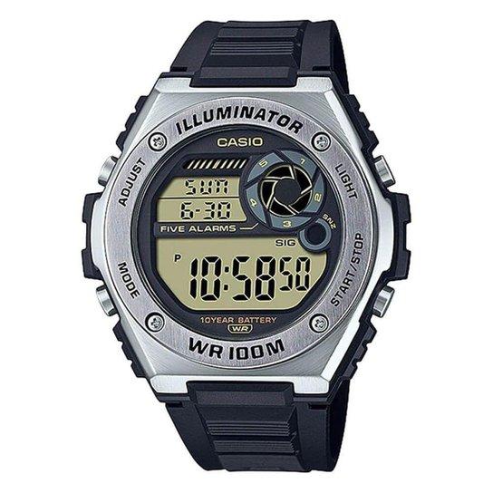 Relógio Casio Standard Masculino MWD-100H-9AVDF - Preto+Prata