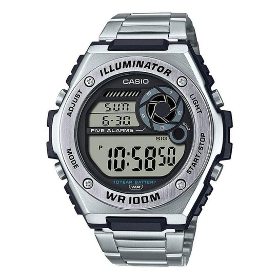 Relógio Casio Standard Masculino MWD-100HD-1AVDF - Prata