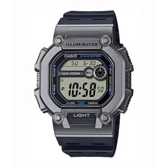 Relógio Casio Standard W-737H-1A2VDF - Preto+Cinza