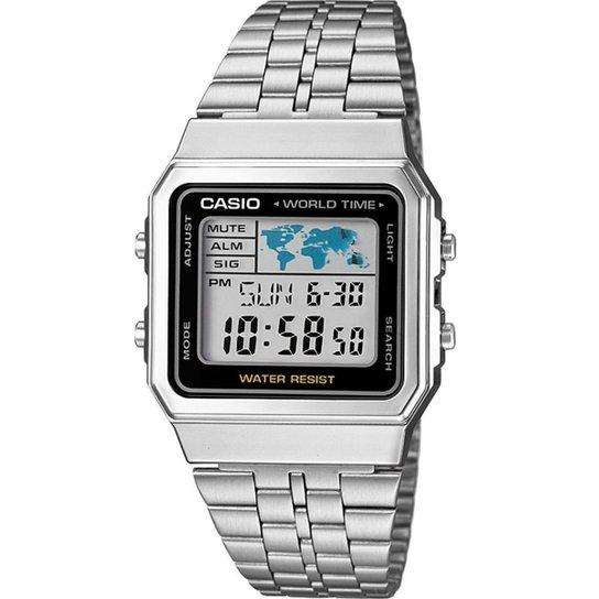 Relógio Casio Vintage Digital A500Wa-1Df Feminino - Prata