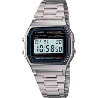 Relógio Casio Vintage Unissex Prata Digital A158WA-1DF