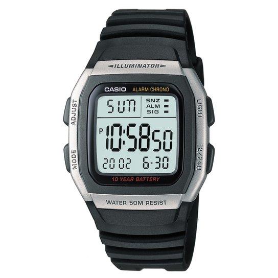 Relógio Casio W-96H-1A - Preto