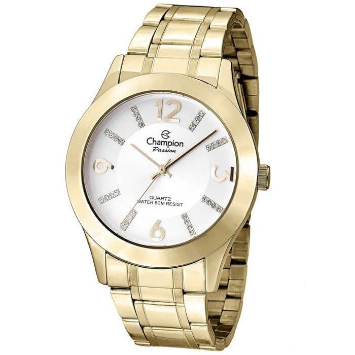 b34c9d026bd Relógio Champion Feminino Passion CN28713H - Dourado - Compre Agora ...