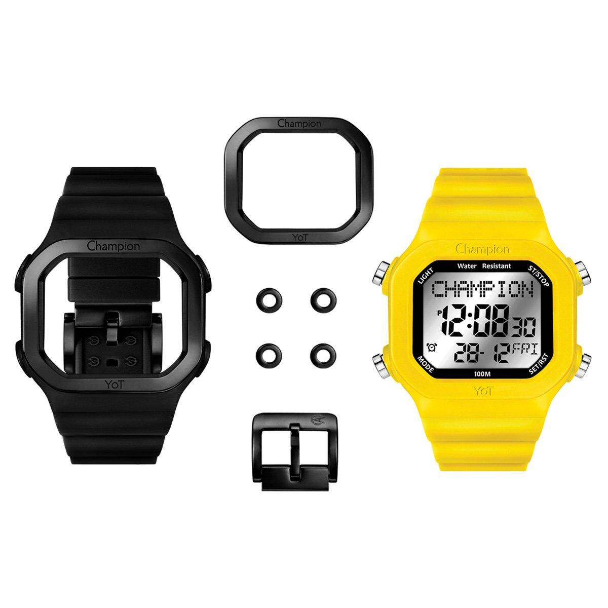 b497538a87f Relógio champion yot i feminino preto e amarelo compre jpg 544x544 Relogio  champion yot