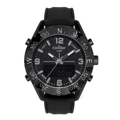 Relógio Condor Anadigi Silicone 50mm Masculino