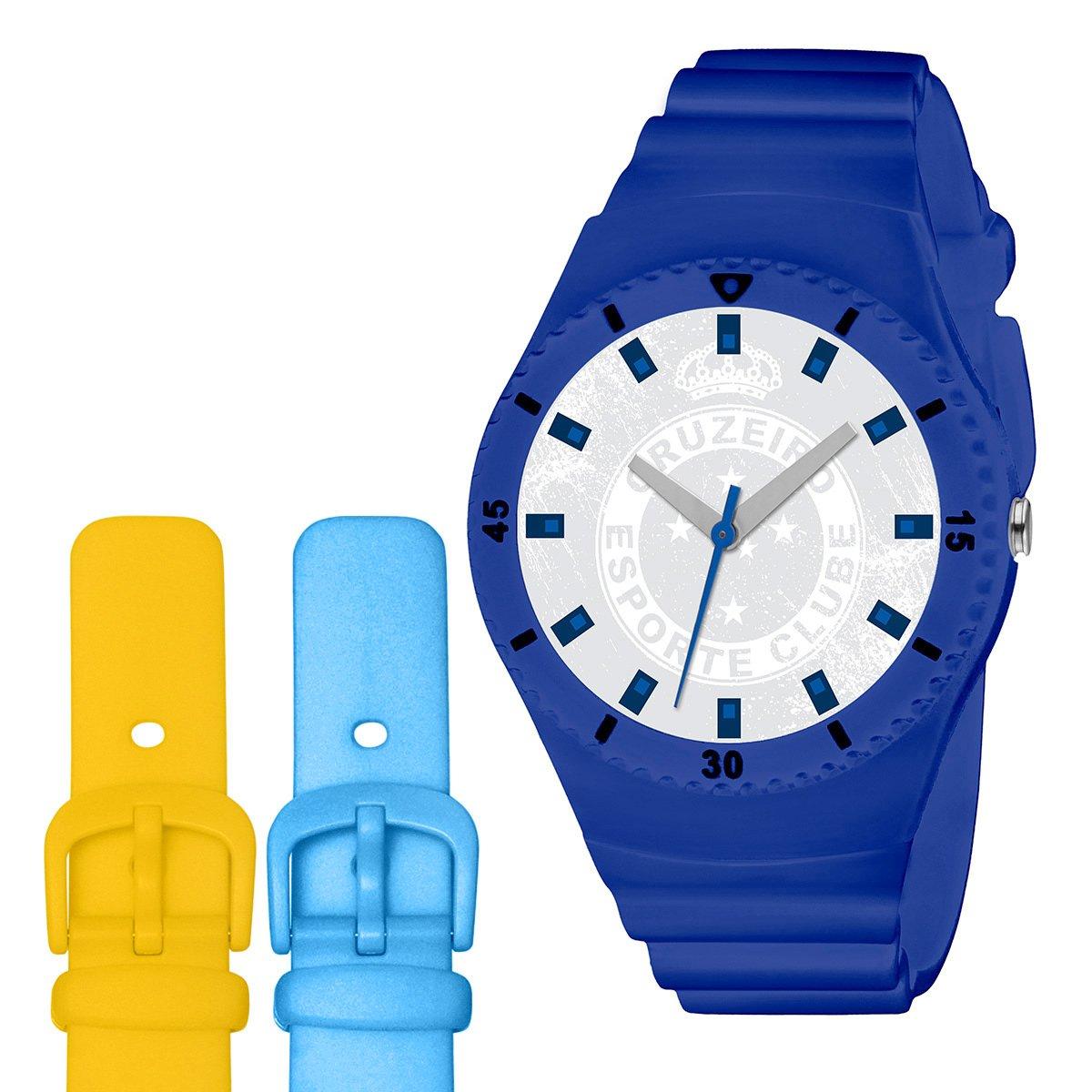 bcba43ddc0f Relógio Cruzeiro Technos Analógico com Pulseira para Troca - Compre Agora