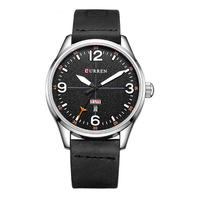 01cac82ff58 Relógio Curren Analógico 8265 Preto e Branco - Preto e Branco ...