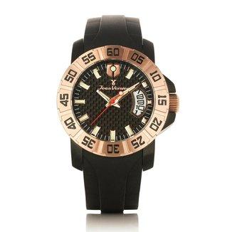 Relógio De Pulso Jean Vernier Pulseira Silicone Prático