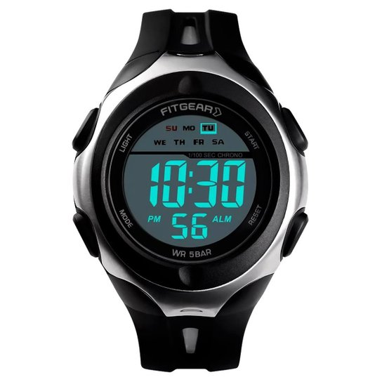 Relógio Digital Aton - Preto
