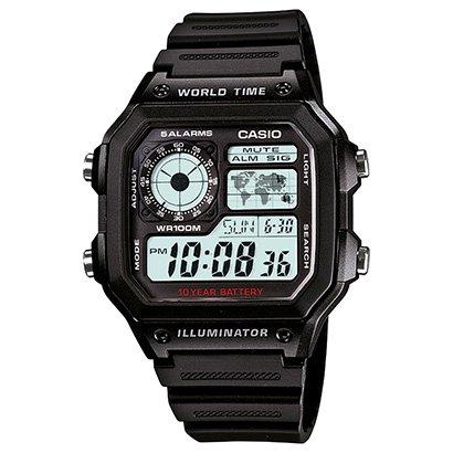 0de5af93bdb Relógio Digital Casio AE-1200WH-1AVDF Masculino - Preto - Compre Agora