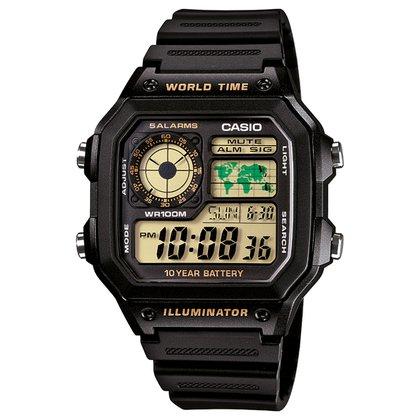 Relógio Digital Casio AE-1200WH-1BVDF Masculino