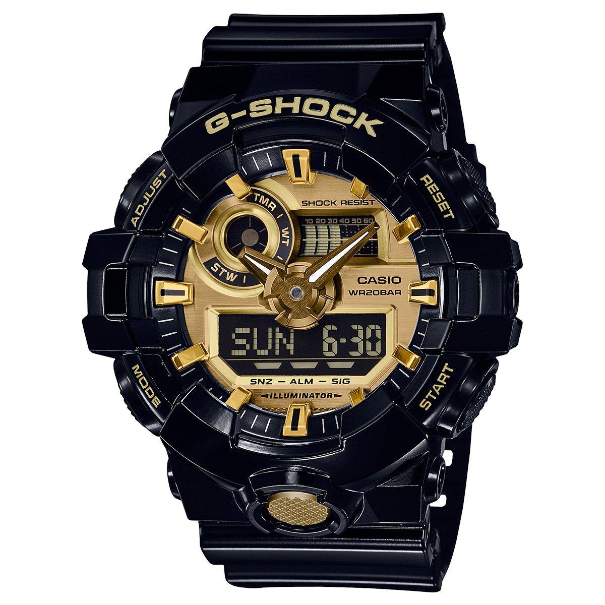 361ea7b05e8 Relógio Digital G-Shock GA-710GB-1ADR - Preto e Dourado - Compre Agora