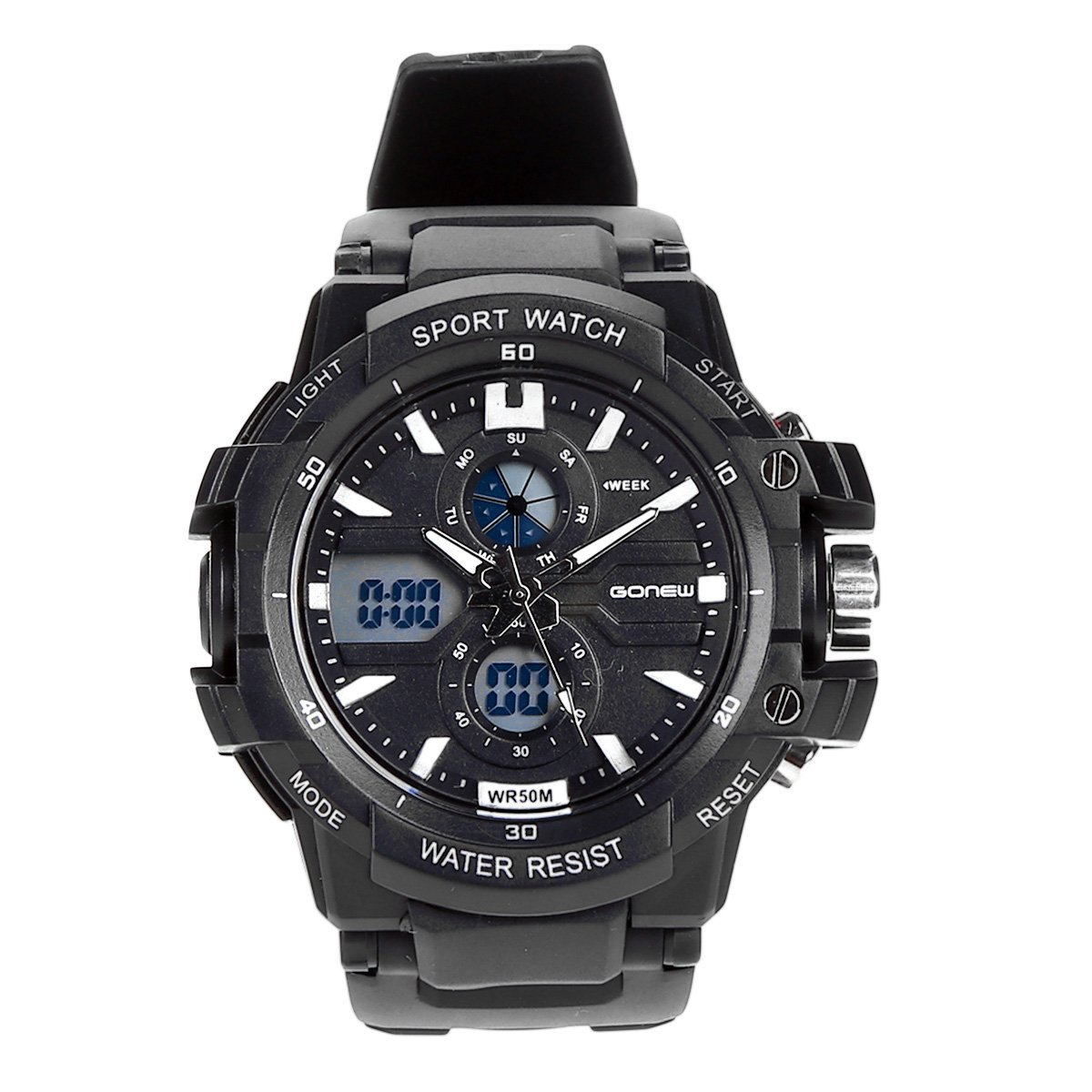 8e7a05e0294 Relógio Digital Gonew Masculino - Preto - Compre Agora
