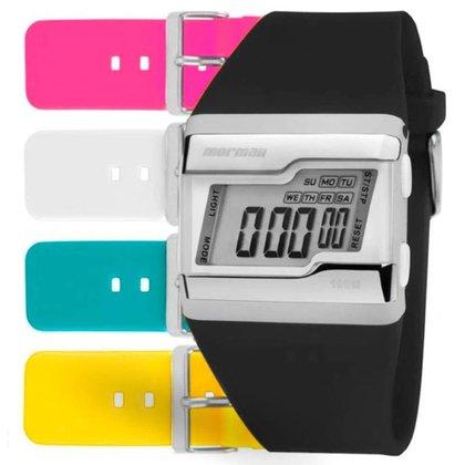 Relógio Digital Mormaii Kit 5 Pulseiras FZCA/T8A