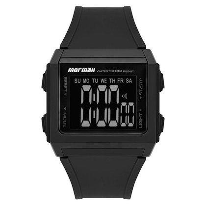 Relógio Digital Wave Preto Mormaii
