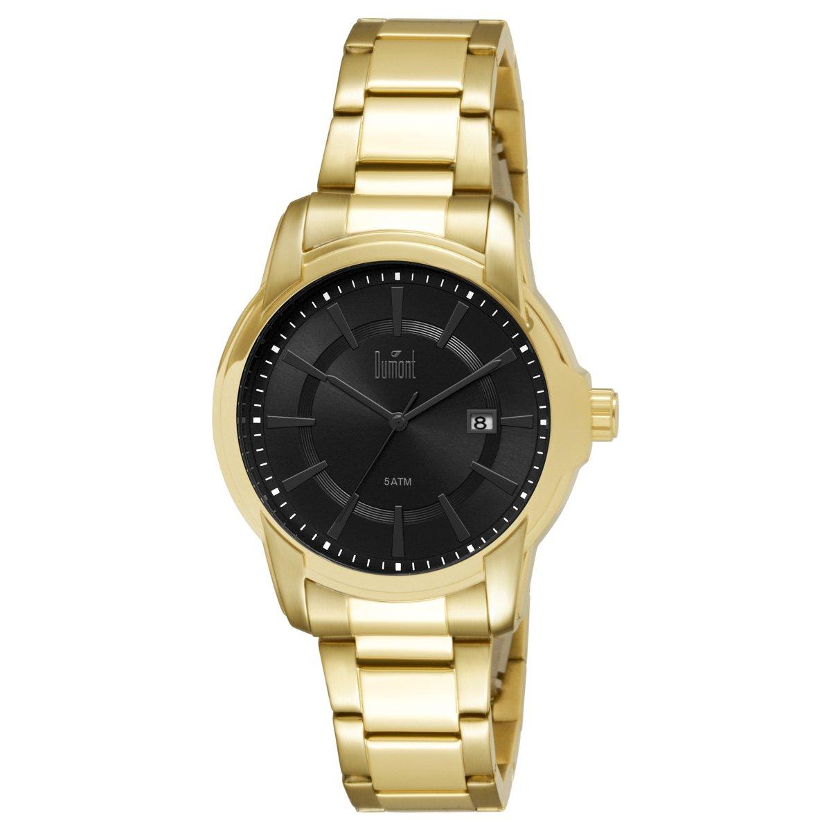 90a8a08522a Relógio Dumont Caixa e Pulseira De Metal Banhado - Compre Agora ...