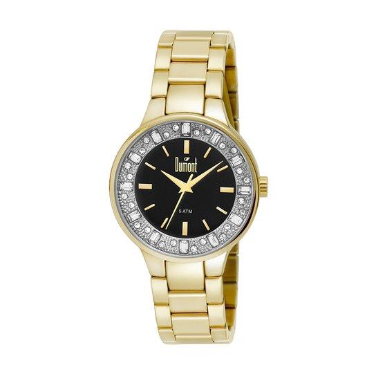 Relógio Dumont Feminino Splendore - Dourado+Preto