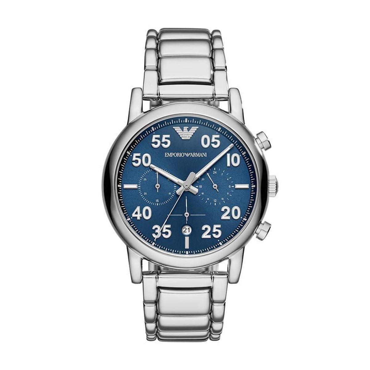 5f086accc24 Relógio Empório Armani Masculino Luigi - AR11132 1KN AR11132 1KN - Prata -  Compre Agora