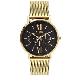 Relógio Euro Feminino  Dourado Multifunção EU6P29AHCBP4D