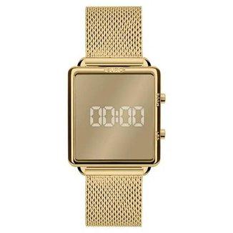 Relógio Euro Feminino Fashion Fit Dourado Digital EUJHS31BAM4D