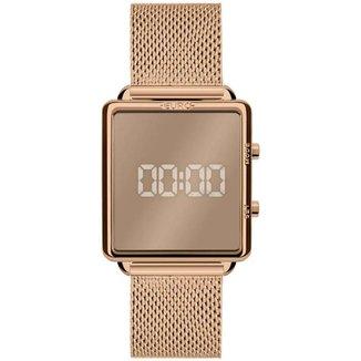 Relógio Euro Feminino Fashion Fit Rose Digital EUJHS31BAN4D