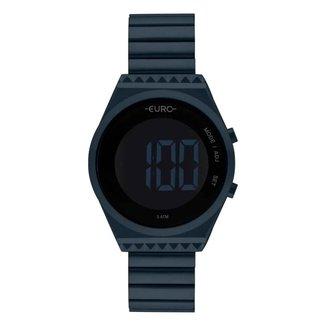 Relógio Euro Feminino Fashion Fit Slim Azul Digital EUBJT016AEK4A