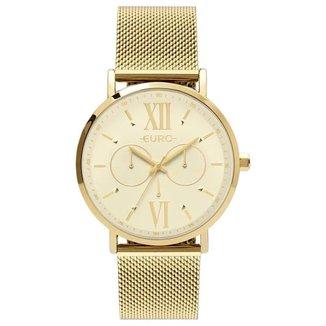 Relógio Euro Feminino Multiglow Dourado Multifunção EU6P29AHT4D