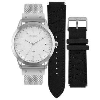 Relógio Euro Feminino Neoprene Prata - EU2035YOL/3K EU2035YOL/3K