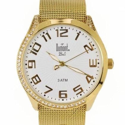 Relógio Feminino Analógico Dourado Dumont - SK65200/B