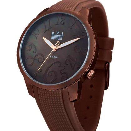 Relógio Feminino Analógico Marrom Dumont - SV47014/R.