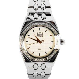 Relógio Feminino Analógico Prata Dumont - SX-25198B.