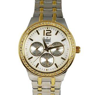 Relógio Feminino Analógico Prata Dumont – SZ75034B