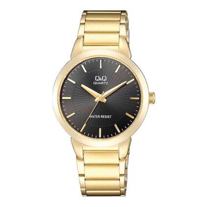 Relógio feminino analógico Q&Q Quartz QA42J002Y dourado pret