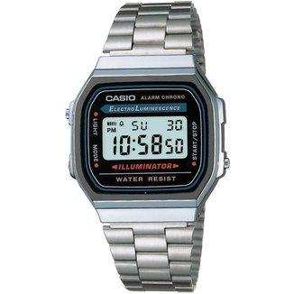 Relógio Feminino Casio Vintage Digital Fashion A168wa 1Wdf