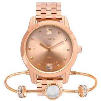 Relógio Feminino Euro EU2035YRS/K4J Rose com Pulseira